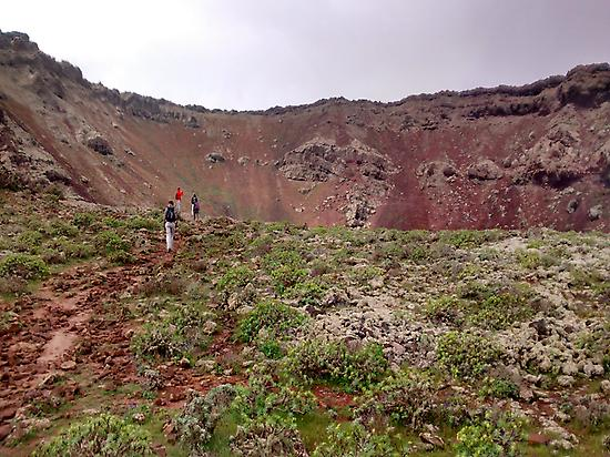Near the crater of La Corona.