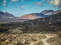 Wineyards and volcanoes of Timanfaya.