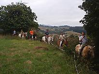 Routes on horse in Asturias
