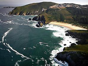 Sugar beaches, from Ferrol to Cedeira