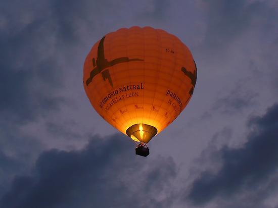 Hot air balloon flight at Toledo