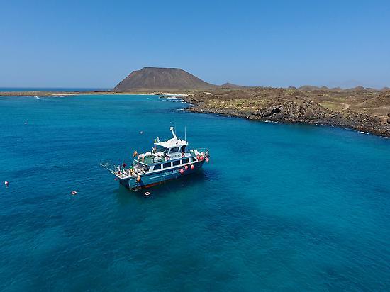 Foto aérea del Minicrucero & Snorkelling