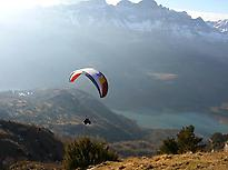 Paragliding flight in Sopelana