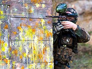 Paintball battle Sitges