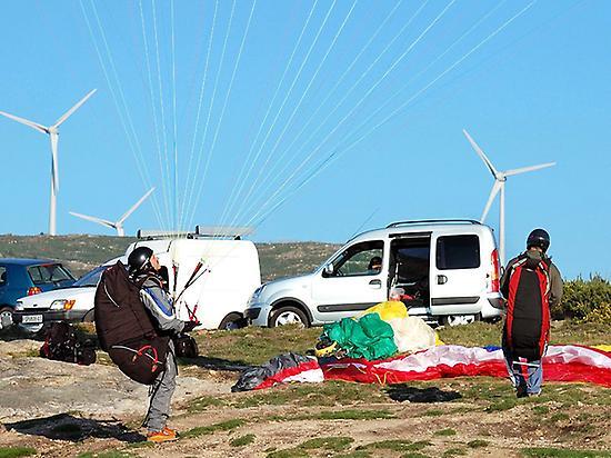 Flight in paragliding