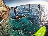 Paddle surf session