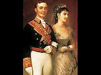 Alfonso XII y Mª de las Mercedes
