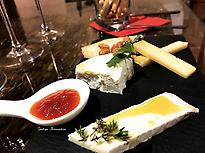 Sample of the cheese board