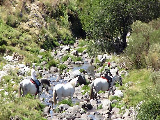 Crossing rivers in Sierra de Gredos