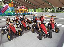 Group of children driving