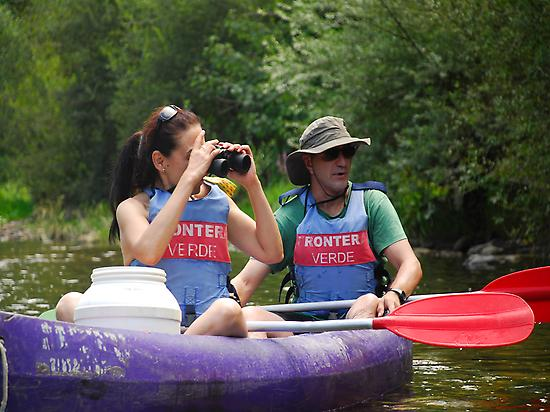 Birdwatching from a canoe