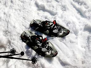 Snowshoeing top to in 7 picos