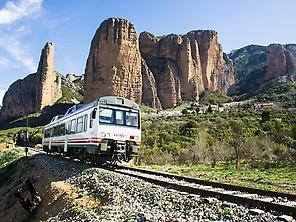The Mallos of Riglos and the train