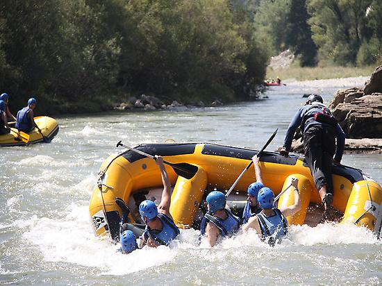 Rafting in Ainsa, Pyrenees