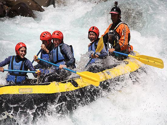 Rafting in Ainsa, Pyrnees