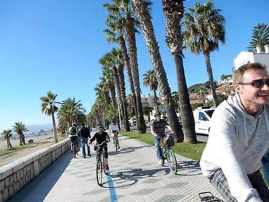 Ride the full length of Malaga promenade