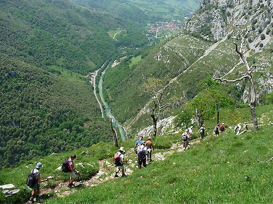 Hikers in Picos de Europa