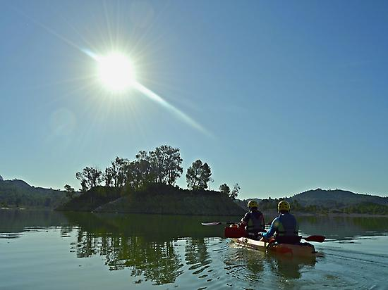 Kayak en el Embalse