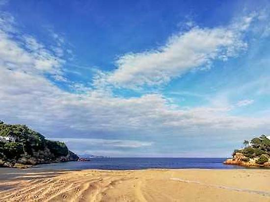 The beaches in Costa Brava.