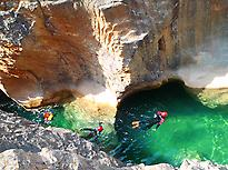Eaux translucides des canyons de Guara