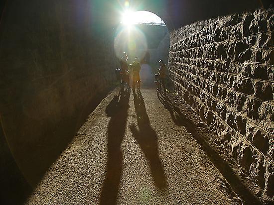 Der längste Tunnel ist 600m lang!