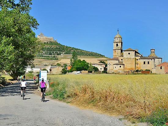 biking, countryside, landscape, villages