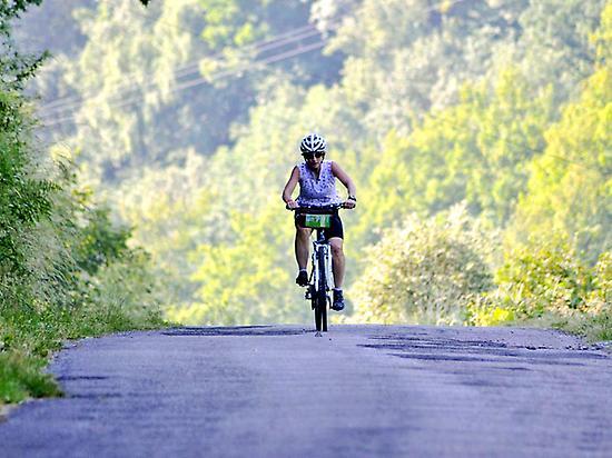 Adventure, cyclist, camino, courage