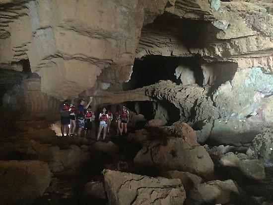 Visiting the cave on foot