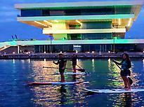 Paddle surf inside La Marina