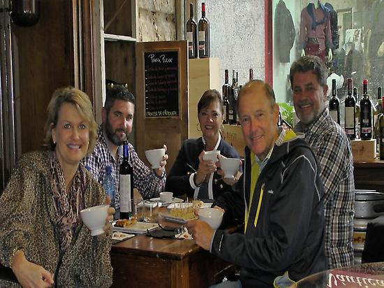 Enjoying Galician wines and food