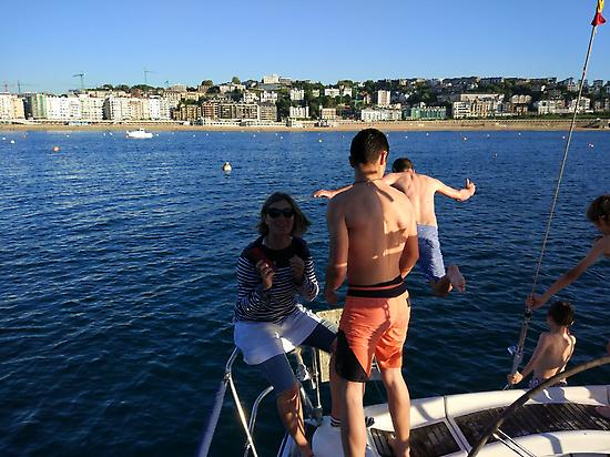 Enjoy in San Sebastian bay