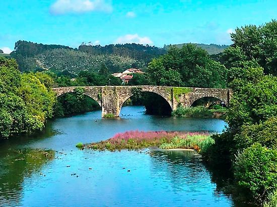 Medieval bridge of Oruña