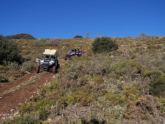going downhill offroad