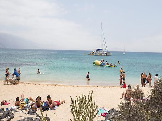 Playa en La Graciosa