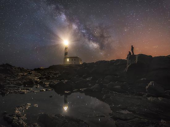 Milky way over Menorca