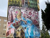 Painted wall in the Meninas de Canido