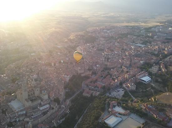 Over the old city of Segovia
