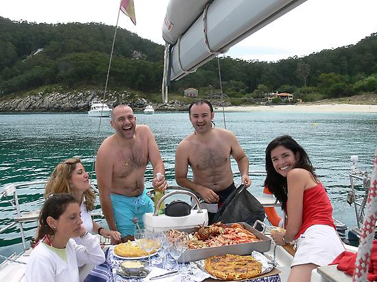 Lunch on board in the South island