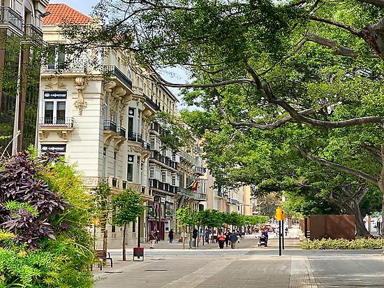 Spaziergang durch die Straßen von Malaga
