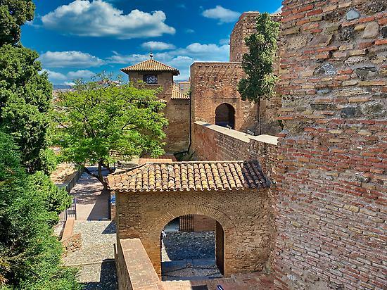 Innerhalb der Mauern der Alcazaba