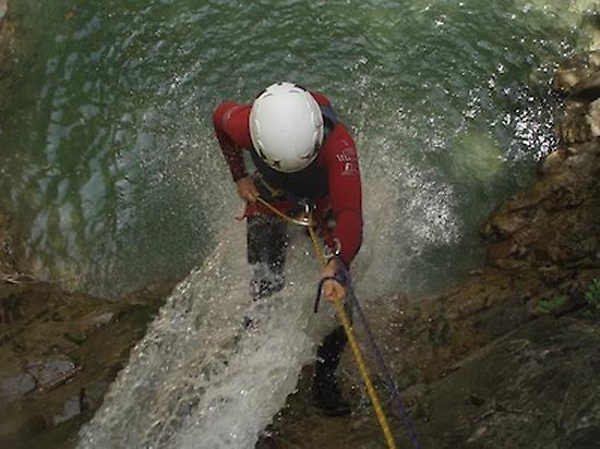 Waterfall abseiling...