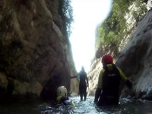 Canyoning by the river Rialb