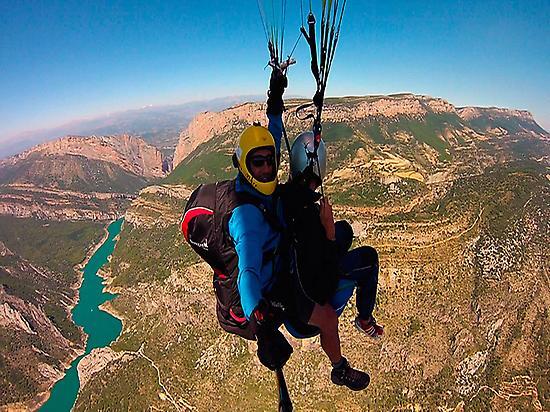 Baptism paragliding flight