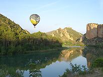 Balloon flight in Montsec