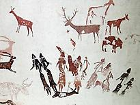 Rock art paintings of Cogul