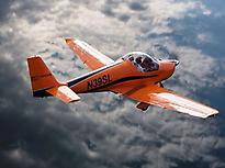 Moià aboard small plane.