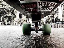 Barcelona on longboard
