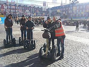 Segway en la plaza Mayor de Madrid