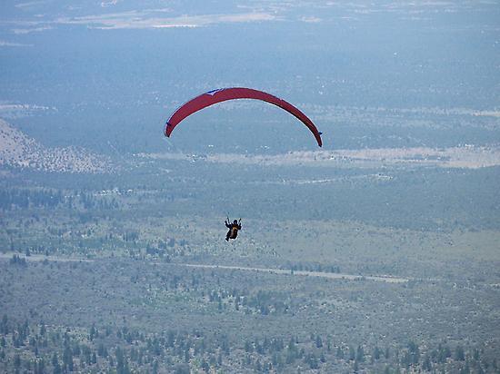 Volando en un parapente