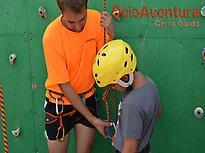 Climbing in rockodrome